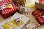 Merry Christmas - Gift Present Boxes And Decorations