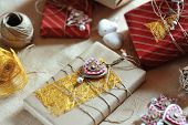 Handcrafted Christmas Package Gift And Decoration