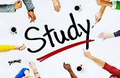 Multi-Ethnic Group of People and Study Concepts