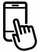 Mobile phone click icon