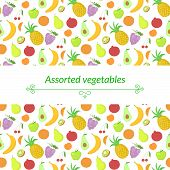 Fruit vector background