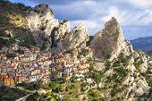 Castelmezzano -mountain village. incredible Italy series, Basil