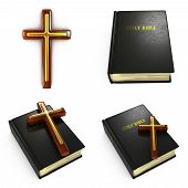 Religious Concepts - Set of 3D Illustrations.