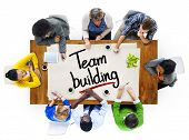 People in a Meeting and Team Building Concepts