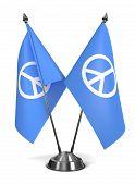 Peace Sign - Miniature Flags.