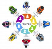 People Social Networking and People Concept