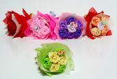 Origami of flowers.