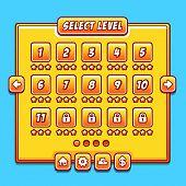 Yellow game menu level interface ui panels