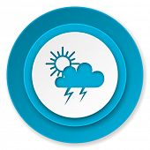 storm icon, waether forecast sign