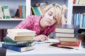 Cute Blonde Student Girl
