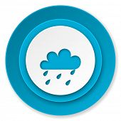 rain icon, waether forecast sign