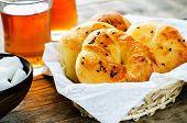 Traditional Turkish Bread Rolls. Achma.