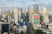 Bangkok City View With Main Traffic