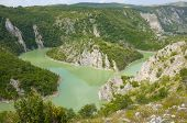 loop in the Uvac River Special Nature Reserve, Serbia