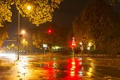 Rainy night in Baden-Baden. Europe. Germany