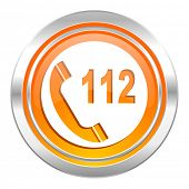 emergency call icon, 112 call sign