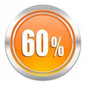 60 percent icon, sale sign