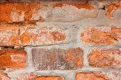 Close Up Background Texture Of Old Brick Wall