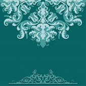 Paper Background With Lace Damask Ornament
