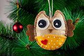 Handmade Owl On The Tree