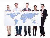 Businesspeople Holding Blank Board