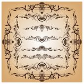 Set Of Vector Borders And Frames For Design
