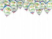 Balloon Frame With Flag Of Belize