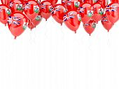 Balloon Frame With Flag Of Bermuda