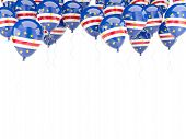 Balloon Frame With Flag Of Cape Verde