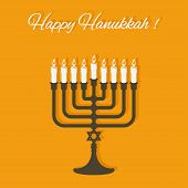 image of hanukkah  - Happy Hanukkah card  - JPG