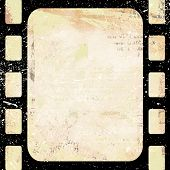 Grunge Background With Frame.