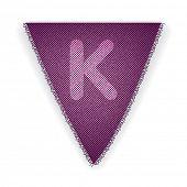 Bunting flag letter K - eps 10 vector illustration