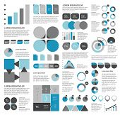Collection of flat infographics elements. Colorful set template.