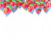 Balloon Frame With Flag Of Eritrea