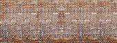 Red brick wall texture panoramic