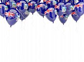 stock photo of falklands  - Balloon frame with flag of falkland islands isolated on white - JPG
