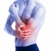 Man Has Elbow Pain And Contusion
