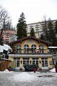 Traditional Restaurant On Ski Resort Bad Gastein