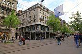 Bahnhofstrasse In Zurich, Switzerland.