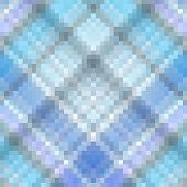 Blue Gingham Squared Mosaic Texture