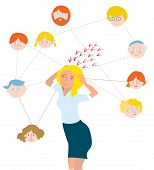 Stress about family members - illustration