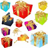 Fancy Gifts with Gold Bows
