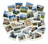 Go Georgia - Central Asia Collage With Photos Of Landmarks For Your Travel Design