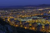 Aerial Night City View Of Brasov City