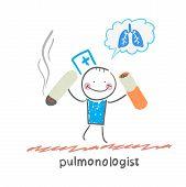 pulmonologist spoils cigarette