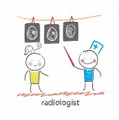 Radiologist X-ray images shows the patient