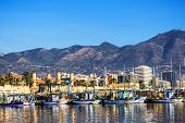 Fishing harbor of Fuengirola, holiday resort near Malaga, Southern Spain