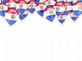 Balloon Frame With Flag Of Paraguay