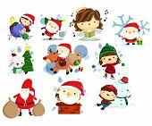 Christmas, Holiday, and winter vector set