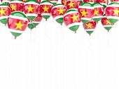 Balloon Frame With Flag Of Suriname